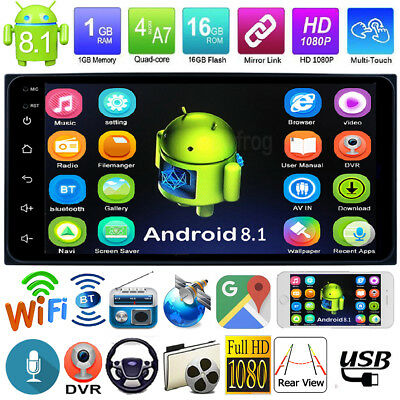 Android 8.1 Quad Core 2Din 7in GPS Navi Car Stereo MP5 Radio Player for TOYOTA