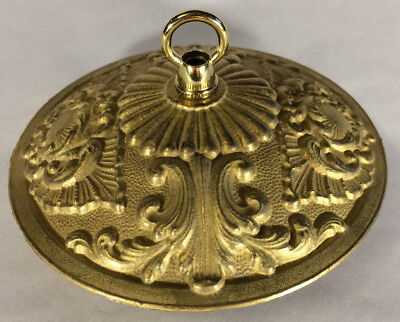 "Victorian Style Die Cast Brass Ceiling Canopy, 5 1/2"" diameter, Unfinished C808U"