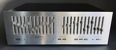 Vintage Pioneer Silver Face SG-9800 Stereo 12 Band Graphic Equalizer Lights Up!