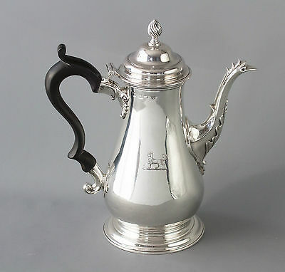 A Very Good George III Silver Coffee Pot London 1767 by William Grundy