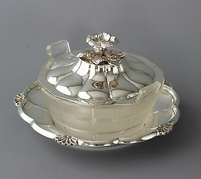 A William IV Silver and Cut Glass Butter Dish London 1834 by the Barnards