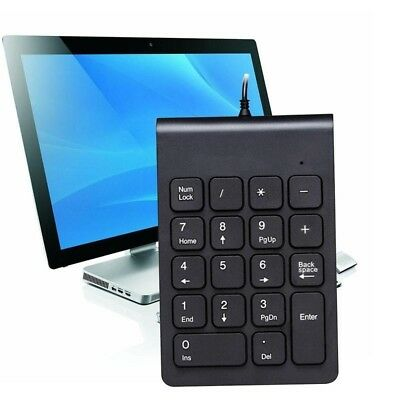 Mini Wired USB Numeric Keypad Numpad Number 18 Keys Pad For Laptop Notebook AU