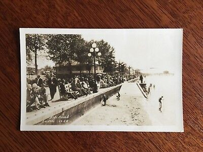 1920s RPPC West Seattle Alki Beach bath house pier gazebo boardwalk Washington