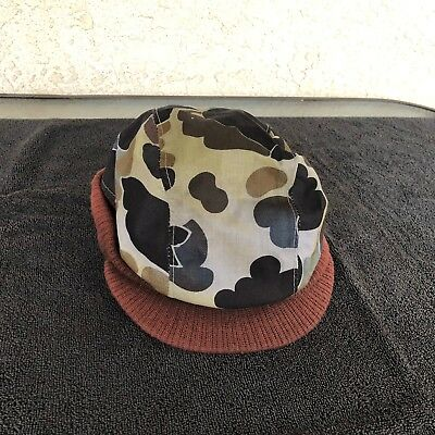 Vtg Columbia Woodland Camo Hunting Camp Hat Thinsulate Gore Tex Insulated LARGE