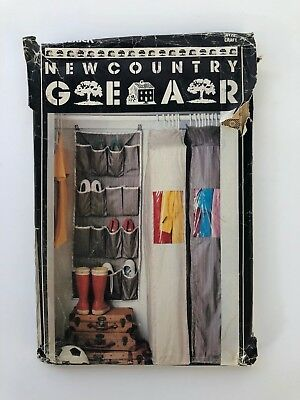 New Country Gear 5 Closet Accessories Sewing Pattern Designs P/N: 6172 - VTG NOS