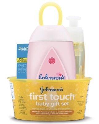 New JOHNSON'S First Touch Baby Gift Set, No Parabens, Phthalates,sulfates Or Dye