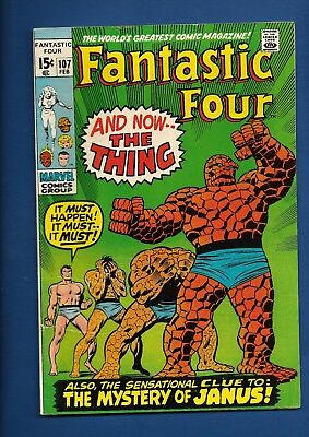 Fantastic Four Bronze Marvel Comic Lot 107 108 109 110 111 The Thing