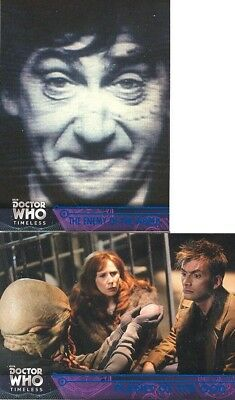 2 2016 Doctor Who Timeless Blue Foil Parallel Cards 89/99 7 61 Planet Of The Ood
