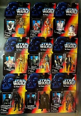 STAR WARS POWER OF THE FORCE POTF ViINTAGE ACTION FIGURES 1990's . Free Shipping
