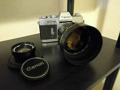CANON EXEE QL SLR Camera W/ Canon EX 125mm and 50mm Excellent