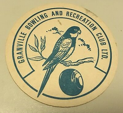 Granville Bowling And Recreation Club Vintage Retro Drinks Coaster X 1