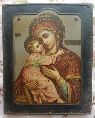 Russian Imperial Icon Mother and  Child   Mother of God Madonna