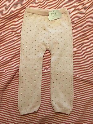 NEXT Girls Pink Knitted Winter Leggings - Size 18-24 Months - BNWT!