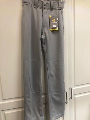 "NEW Easton Mako 2 Youth Small S YS 21"" 22"" Baseball Pants Pant Gray - NWT $70"