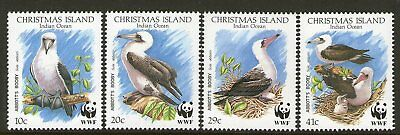 CHRISTMAS Is, 1990 WWF ABBOTS BOOBY 4 MNH