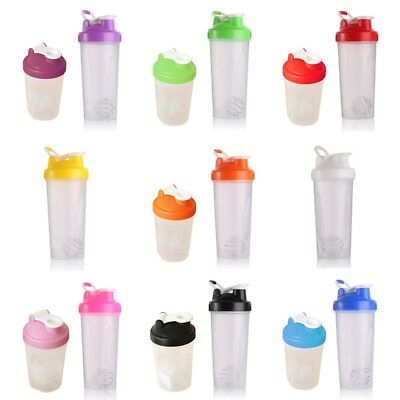 400/600ml Shake Protein Blender Shaker Mixer Cup Drink Bottle Cocktail UK  zzy