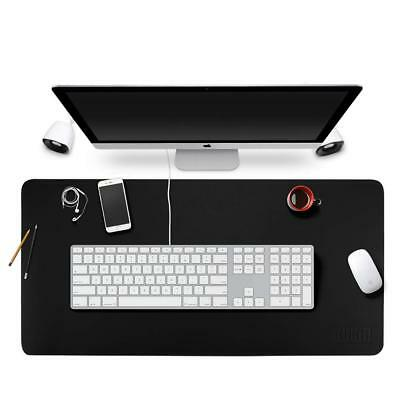 """Multifunctional Office Desk Pad Mouse Pad Blotter Protector 35.4""""x 17""""PU Leather"""