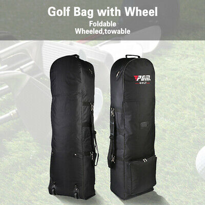 Travel Golf Bag Flight Air Protective Carrying Cases Cover Carrier with Wheels