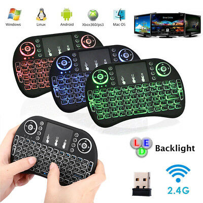 2.4G Mini Backlit Wireless Touchpad Keyboard Air Mouse For PC Pad Android TV BSE
