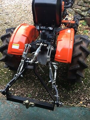 Kubota B5000 Compact Tractor With Rotavator, Trailer And Rear Linkage. 4wd.