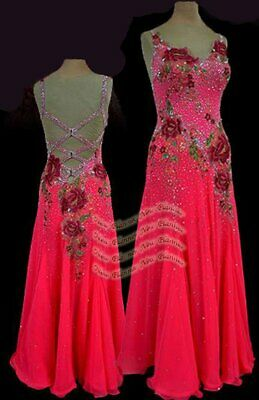 B7884 custom made American Smooth Ballroom Competition Modern Waltz Tango Dress