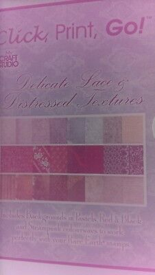 Click  Print Go Delicate Lace And Distressed Textures CD Rom