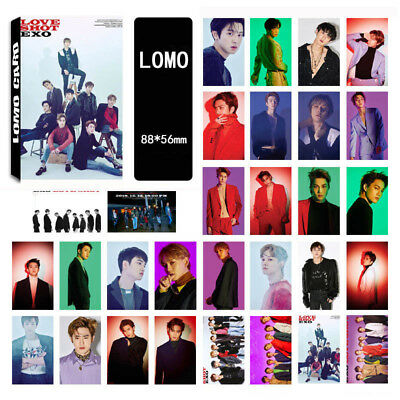 30pcs Set Kpop EXO Love Shot Paper Lomo Photo Card New Album Photocards