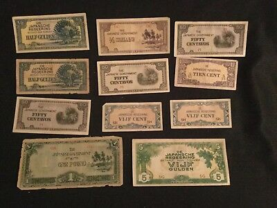 WW2 Imperial Japanese Invasion Occupation Paper Money Currency