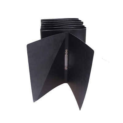 A5 Black Leather 2 Ring Binder