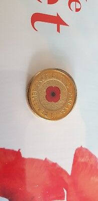 Australia 2012 Anzac $2 Remembrance Day Red Poppy Coin Unc On Rsl Card