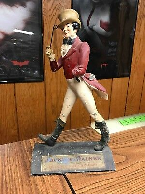 Rare 1960's Johnnie Walker 14 Inch Tall Display Statue / Figure