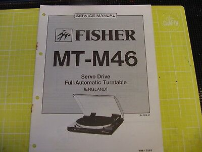 Fisher MTM36 service manual for Servo Drive Automatic Turntable