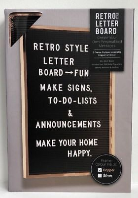 Retro Style Peg frame Board Letters Set Restaurant Home Memo Msgs Reminder 45x30
