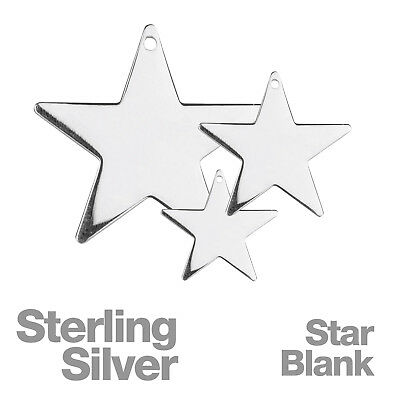 Sterling Silver Star Stamping Blanks for Jewellery Making