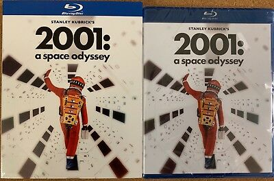 New 2001 A Space Odyssey Blu Ray + Slipcover Sleeve Remastered Free Shipping