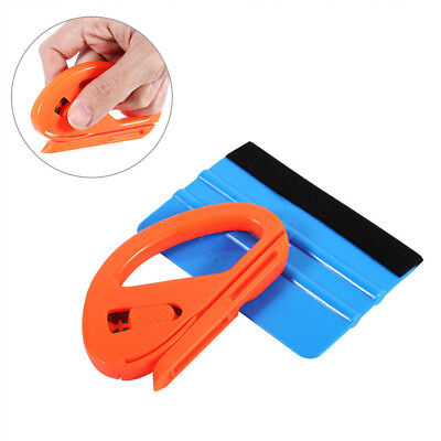 Professional Vinyl Safety Cutter & Felt Edge Squeegee Scraper Car Auto Wrapping