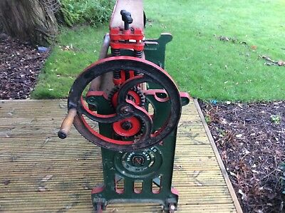 Antique cast iron mangle manufactured by John Shore and Sons of Normaton