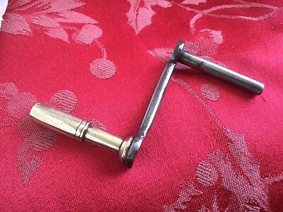 Grandfather Longcase Steel & Brass Clock Key  Polished Crank Handle  4.75mm Sz10