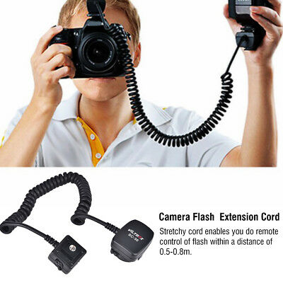 VILTROX TTL Off-Camera Flash Sync Extension Cord for Nikon Hot Shoe 0.8m