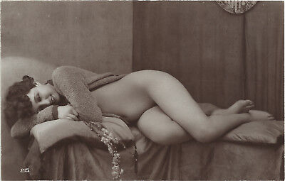 Rare original old French real photo postcard Art Deco nude study 1920s RPPC #408