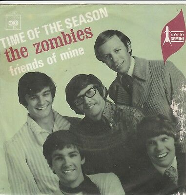 Single 7''  The Zombies - Time Of The Season - CBS 4037 - 1968 - FR