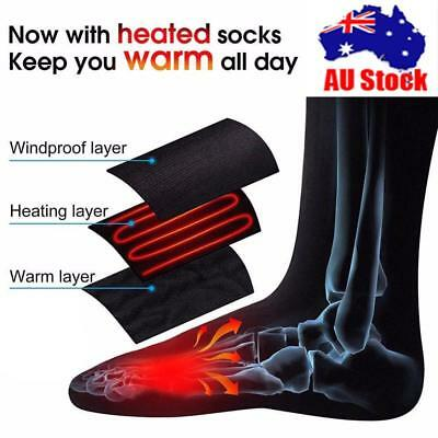 1 Pair Battery Powered 3V Winter Warm Electric Cotton Warm Heated Socks Stocking