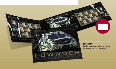 Craig Lowndes 2019 Holden Motor Racing Set Of Stamps Collection Rare Limited