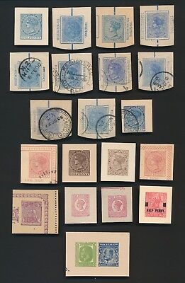 New Zealand Stamps Qv-Kgv, Postal Stationary Cut-Outs Mint/used Inc Registered