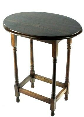 Antique English Oak Oval Occasional Table - FREE Shipping [PL4821]