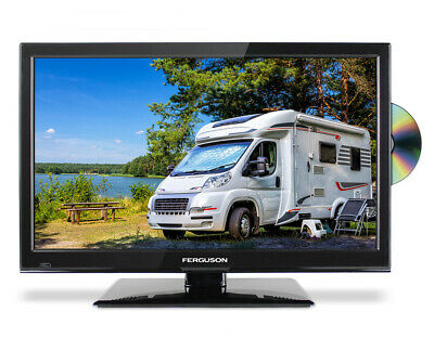 "FERGUSON 22"" INCH 12 volt TRAVELLER TV DVD FREEVIEW HD & SAT 1080P HDMI USB 12v"