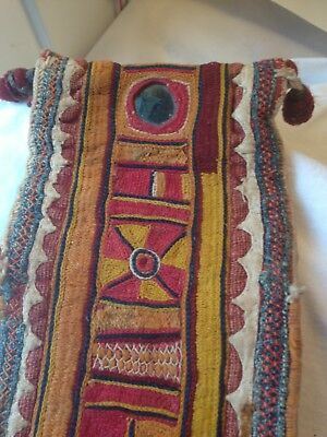 ANTIQUE/VINTAGE INDIAN EMBROIDERY from GUJARAT UNUSUAL PIECE