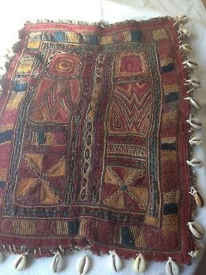 ANTIQUE/VINTAGE INDIAN EMBROIDERY from GUJARAT WITH SHELLS
