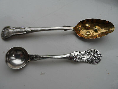 two solid silver scottish spoons in perfect condition.