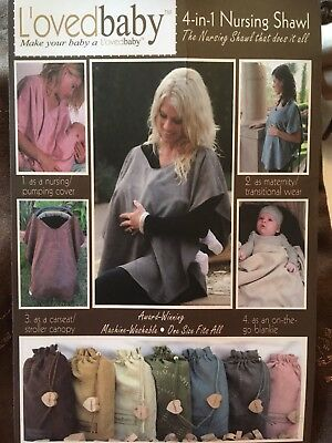 BREAST FEEDING MOMS cover BY l'OVEDBABY versatile 4:1 shawl